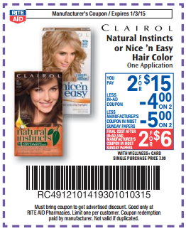 Clairol Natural Instincts or Nice \'n Easy Hair Color Only $2.50 At ...