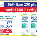 BAUSCH + LOMB Peroxiclear Solution $2.99 Rite Aid!