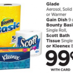 Bounty Single Roll Only $0.49 At Rite Aid!