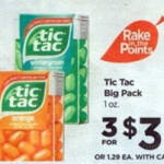 Rite Aid Starting 9/18: 3 FREE Tic Tac Big Pack + Money Maker!
