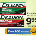Excedrin 80-100 ct $6.99 at Rite Aid