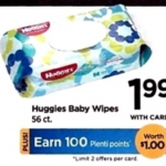 New Coupon! $.49 Huggies Baby Wipes at Rite Aid Starting 11/24!