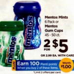 Rite Aid Starting 11/13: Mentos Only $1