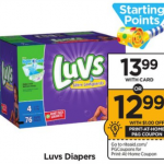 Luvs Box Diapers Only $7.61 At Rite Aid!