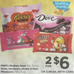 Rite Aid Starting 1/8: M&M Bags Only $2.25!